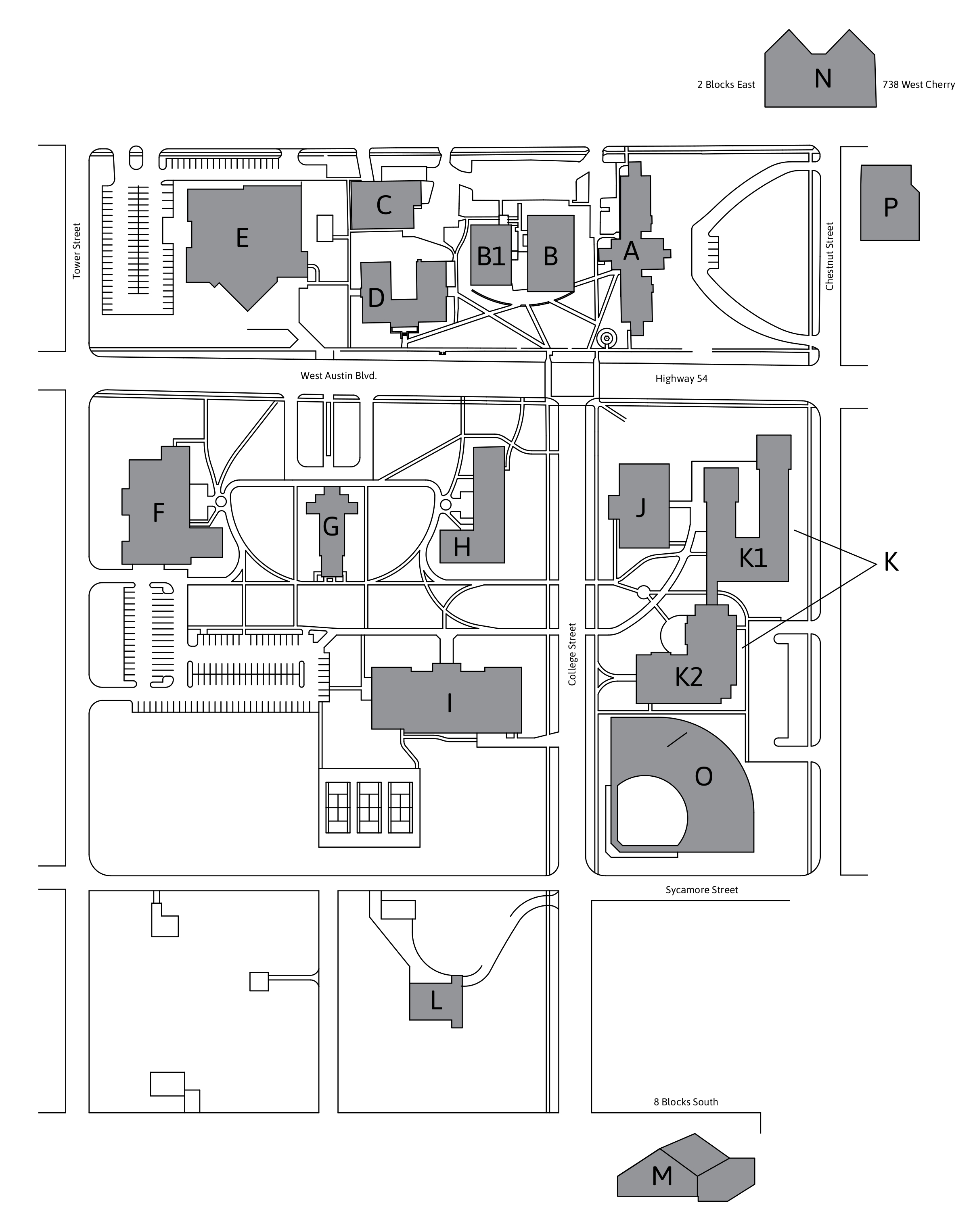image about University of Arizona Campus Map Printable referred to as Campus Map Simplest Individual Womens Liberal Arts Faculty